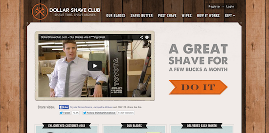 Dollar Shave Club - Above the Fold
