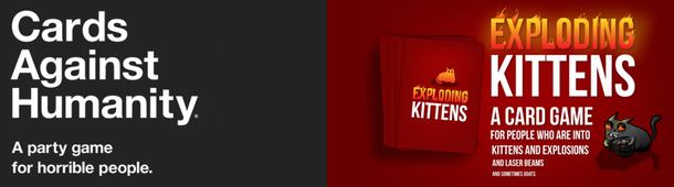 Copywriting Faceoff: Cards Against Humanity Vs. Exploding Kittens