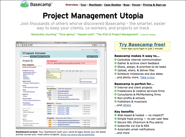 What I Learned Analyzing 13 Years of Basecamp Home Pages